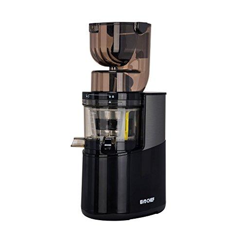 BioChef Atlas Whole Slow Juicer Pro – Extractor de zumos, 400 Watts, 40 RPM, licuadora en frío. Garantía de por vida en el motor. (Negro)