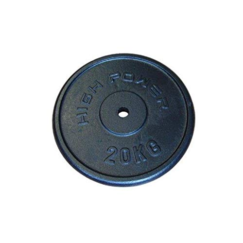 HobbyeSport GETFIT Disco in ghisa da 20 kg Foro 25mm Allenamento Pesi Palestra