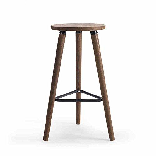 ZHANGRONG- Chaise en bois solide de barre de tabouret pour le bar café hall d'affaires 32x32x66.5cm -Tabouret de canapé