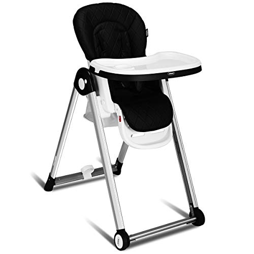 Buy Bargain INFANS Folding High Chair for Babies &Toddlers, Space Saving with Multiple Adjustable Ba...