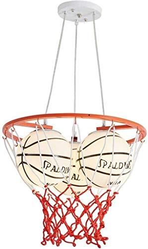 AXWT Ceiling lamp LED 3-Kopf-Basketball-Deckenleuchte, Kinderzimmer-Basketball-LED mit Jungen kreativen Cartoon-Schlafzimmer-Kronleuchter-Kindergarten-Studie-Thema hängendes Licht, Deckenleuchte