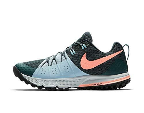 Nike Women's Running Shoes, Green Deep Jungle Ocean Bliss Armoury Navy Crimson Pulse 301, 5 Big Kid