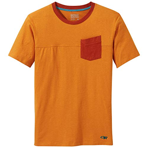 Outdoor Research Axis S/S T-Shirt pour Homme, Homme, Hiking-Shirts, 269217, Citrouille, XL