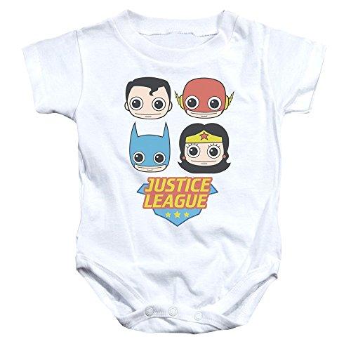 Body para bebé de la Liga de la Justicia de la Liga Lil Leaguer de My GENERATION Blanco blanco...