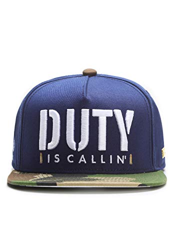 Hands of Gold is Callin' Cap Snapback, Navy/Woodland/White, one Size