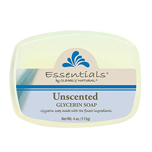 Clearly Natural Essentials Glycerin Bar Soap Unscented, Pack of 12, 4-Ounces Each