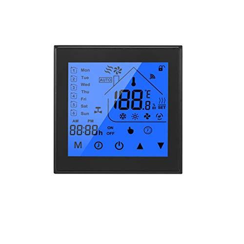 OWSOO Termostato Inteligente WiFi, Pantalla LCD, Semana Programable, Termostato para Calentamiento de Agua, Control de App Tuya, Compatible con Alexa Google Home, Negro
