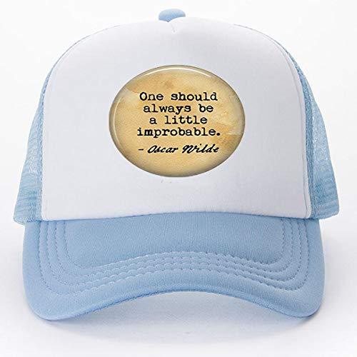 Oscar Wilde Zitat One Should Always Be A Little Improbable Schlüsselanhänger, Baseballkappen, Golfkappen, literarischer Schmuck