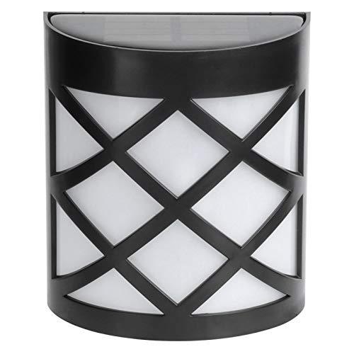 logozoee Lámpara de Pared Solar, lámpara de jardín Resistente al Calor con Sensor de luz de Pared, Ahorro de energía Impermeable para Cubiertas(Warm White)