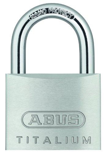 ABUS 64TI/50 C Titalium Aluminum Alloy Padlock Keyed Different