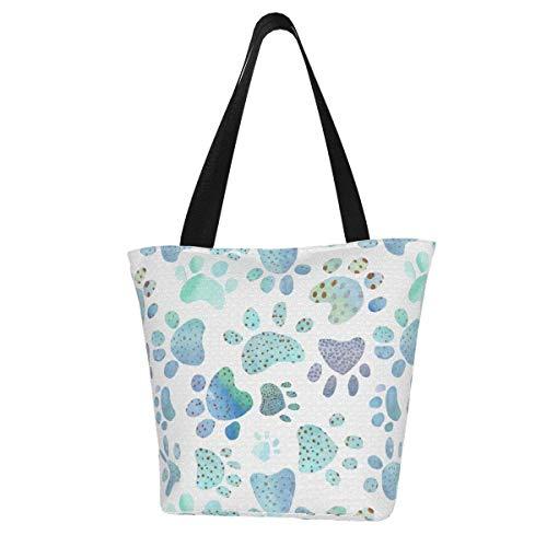 Stone Dots Paw Prints Women's Large Capacity Tote Shoulder Work Bag Handbags Satchel Purse