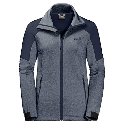 Jack Wolfskin Damen Sutherland Jacket Women Fleece-Sweatshirt, Midnight Blue, L
