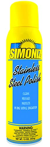 Stainless Steel Cleaner Polish and Protectant - No Streak Spray - Resists Fingerprints, Grease And Water Splatter on Refrigerators, Range Tops and Hoods, Dishwasher - Made in the USA - 16 oz Spray