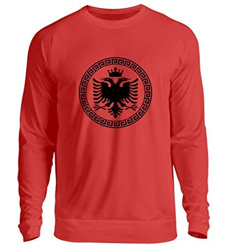 Hochwertiger Unisex Pullover - Albanische Flagge Shirt Albanischer Adler Albanien T-Shirt Kosovo Geschenk