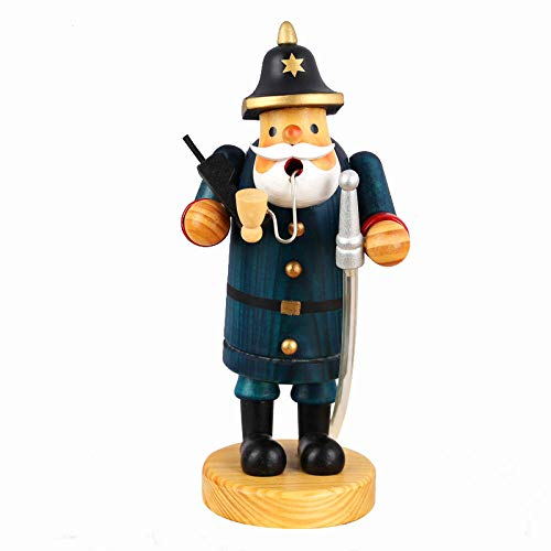 Sculpture Character Decoration Ornaments Statues Sculptures Sculptures Statues Ornaments Figurine Collectible Figurines Christmas Police Smoke Dolls Statue Pipe Puppet Handmade Wooden Craftwork Chr