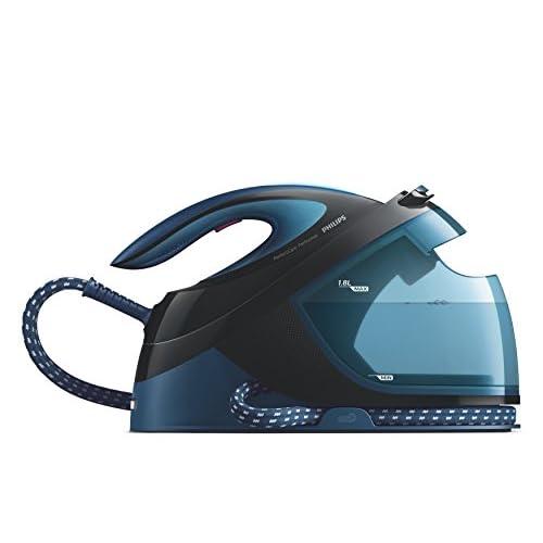 Philips GC8735/80 PerfectCare Performer Ferro Generatore di Vapore , Tecnologia OptimalTemp, fino a 6.5 Bar di Pressione della Pompa, Colpo Vapore 420 g, Serbatoio 1.8 L, Blu/Nero
