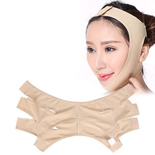 cbda lipsticks YC° Facial Slimming Mask Face Lift Up Belt Thin Neck Mask Sleeping Face-Lift Reduce Double Chin Bandage Face Shaper Skin Care Belt(2Pcs),S