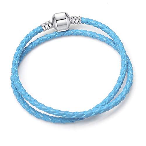 YUNLAN Charm bracelet cute mouse snake chain fine basic bracelet suitable for women fashion charm beaded Diy jewelry bracelet (Color : 20, Size : 20cm)