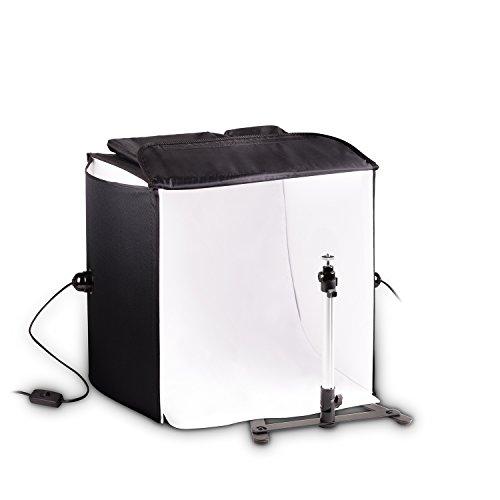 Mobiles Hauser und Picard 200 Watt 40Cm Foto-Studio Licht-Würfel Mit Tasche Und Kamera-Stativ | Foto-Beleuchtung/Licht-Zelt/Licht-Würfel