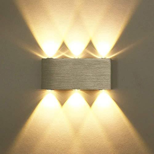 Wandlamp rechthoekig aluminium wandlamp uplighters downlighter dergelijke schadelijke chemicaliën laag stroomverbruik van puur aluminium 18 x 8 cm wandlicht