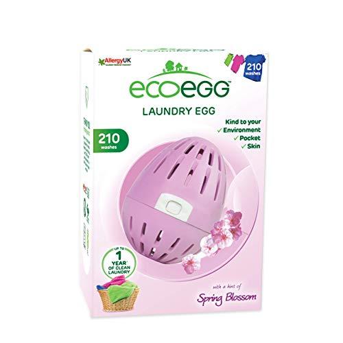 Ecoegg - Ovetto da bucato Ecologico con Sfere minerali all'Interno, Durevole per 210 lavaggi, profumato ai Fiori di Primavera