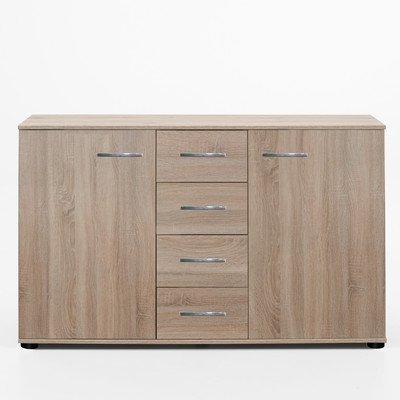 Wimex Kommode/ Kombikommode Anna, 2 Türen, 4 Schubladen, (B/H/T) 83 x 41 x 130 cm, Eiche Sägerau
