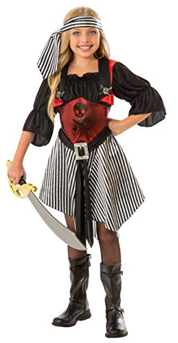 Rubies - Disfraz de Pirata Escarlata para niña, talla 8-10 años (Rubies 641146-L)