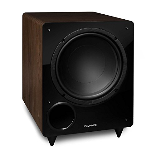 Fluance DB10W 10-inch Low Frequency Powered Subwoofer for Home Theater (Natural...