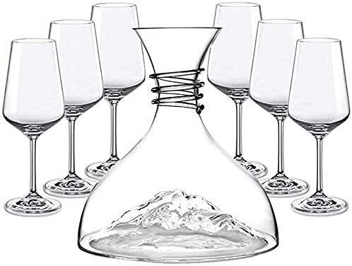 YHQKJ Vasos de Whisky Decantador de Whisky, Copa de Cristal sin Plomo 100% bucal, Elegante Schnapps Decanter, Conjunto de Accesorios HANADE para Decanter (Color : 4)
