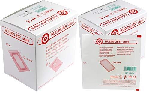 100 Stück steril Wundpflaster Rudavlies steril Pflaster 10 x 8 cm