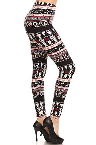 LY5R-S599 Checkered Peach Yoga Print Leggings, One Size