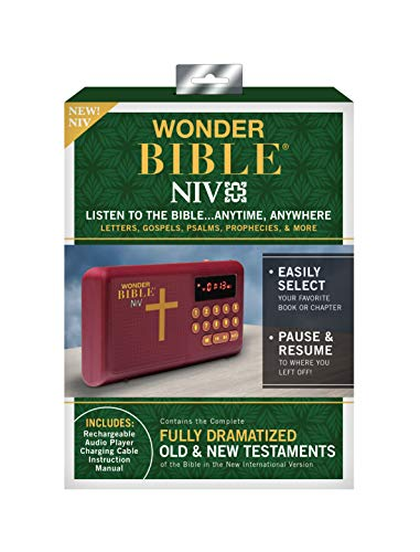 Wonder Bible NIV- The Talking Audio Bible Player (New International Version), As Seen on TV
