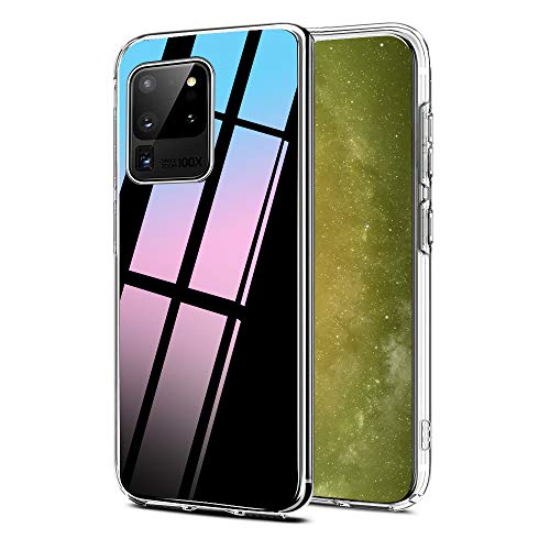 Ylife Kompatibel mit Samsung Galaxy S20 Ultra Hülle, Transparent Stoßfest, Anti-Gelb Anti-Scratch Dünn Durchsichtige Schutzhülle TPU Silikon + Harter PC Handyhüllen für S20 Ultra Hülle Crystal Clear