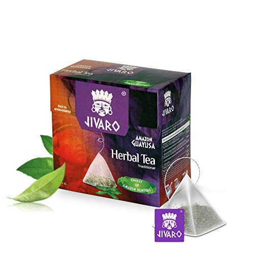 Guayusa Tee von JIVARO (Enzeilpack) - 15 Teebeutel - Kräutertee zur Verbesserung der Konzentration - mit natürlichem Koffein, viele Antioxidantien & L-Theanin