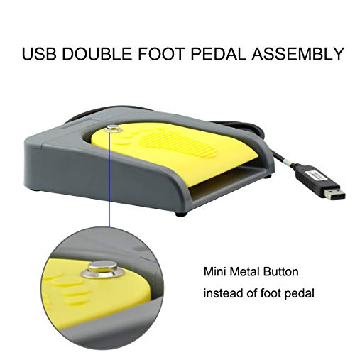 OLLGEN USB Double Foot Switch Control Pedal 2 Key Assembly Program Video Game Customized PC Keyboard Mouse Multimedia String Action HID