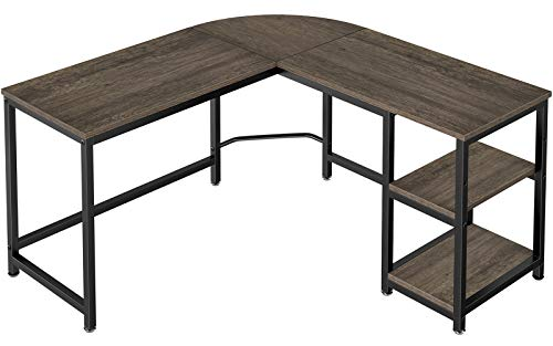 Homemaxs 56 Inch L Shaped Computer Desk, Corner Computer Desk for Small Space