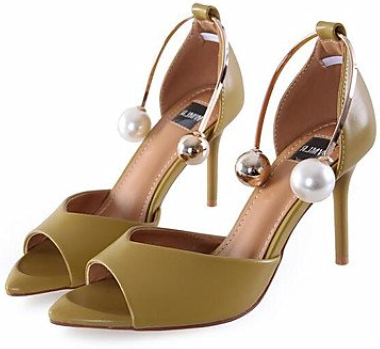 LvYuan-GGX Damen High Heels Komfort PU Sommer Normal Komfort Komfort Komfort Schwarz Gelb Rosa 10-12 cm, schwarz, us8.5   eu39   uk6.5   cn40  d4405f