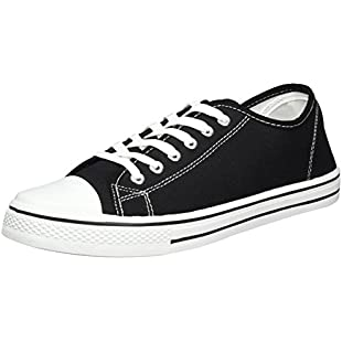 Mens Canvas Baseball Shoes in 4 Colours (10, Black):Isfreetorrent