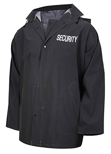 Rothco Security Rain Jacket, 3XL Black