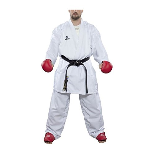 Hayashi Kumite–Kimono de Karate Unisex, Unisex Adulto, Color Blanco, tamaño 170 cm