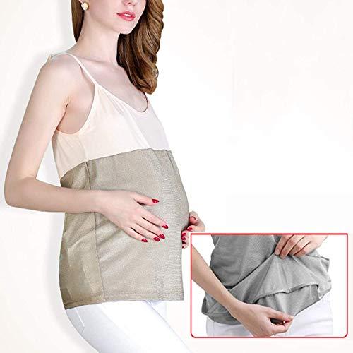 CHANG Ropa EMF Ropa De Maternidad Antirradiación,Chaleco De Maternidad Antirradiación 5G WiFi Shield Traje De Radiación para Mujeres Embarazadas,XXL
