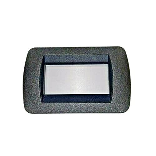 Bticino L4863GF - Placa 3 módulos Living International Grafito - Bticino L4863GF