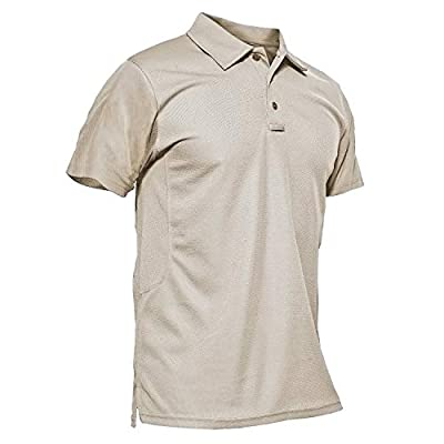 MAGCOMSEN T Shirts for Men Golf Shirts Quick Dry Shirts Mens Casual Shirts Hiking Shirts for Men Short Sleeve Tactical Shirts Golf Polo Shirts for Men T Shirts Golf Shirts Fishing Shirts