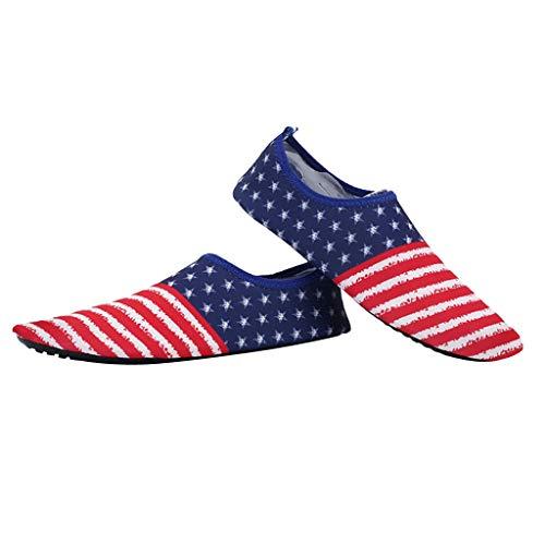 IPOTCH 1 Par de Zapatillas de Correr Mujer Delgadas y Plegables, Diseño Clásico de Mezcla de Color - Azul, 41-42