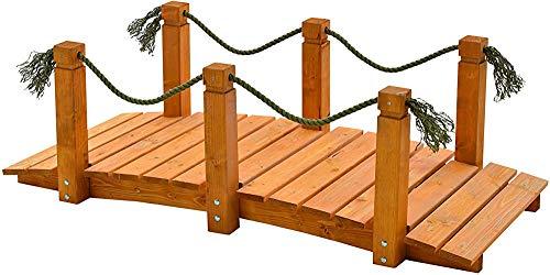 Holzgartenbrücke mit Armlehnen mit Armlehnen Holzgartenbrücke mit Armlehnen,A