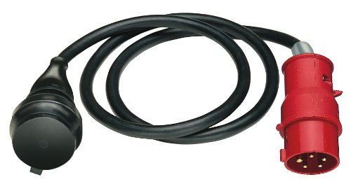 Brennenstuhl Adapterkabel / Adapterleitung 400V/16A mit CEE-Stecker (1,5m Kabel, für den Einsatz im Außenbereich IP44, Made in Germany)
