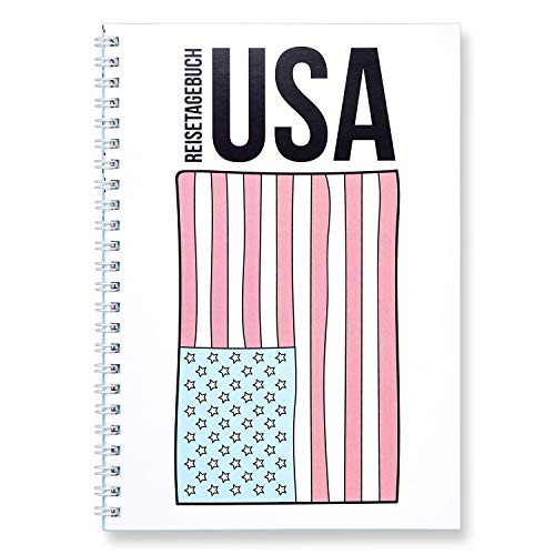 CUPCAKES & KISSES® Reisetagebuch zum selberschreiben I für die USA Amerika I interaktiv zum ausfüllen I mit spannenden Aufgaben I DIN A5 Ringbuch
