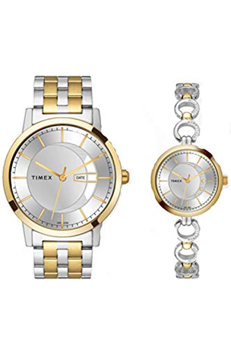 Timex Analog Silver Dial Unisex's Watch For Gift, Lovers