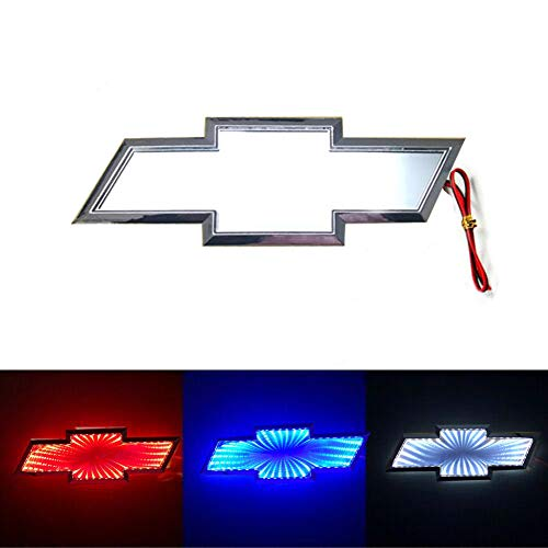 3D LED Car Tail Logo Light Badge Lamp Emblem For Chevrolet Holden Cruze Malibu EPICA CAPTIVA AVEO LOVR Fit for all Chevrolet of cars (red)