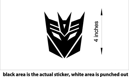 4x Transformers Decepticons #60,010 Sticker/Decal (Purple)